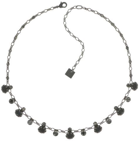 necklace Galaxy in Glass black gun metal