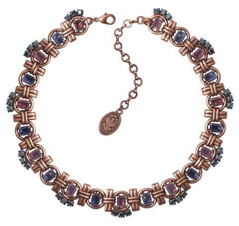 necklace Aztec lila antique copper