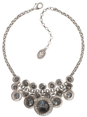 necklace Rivoli Concave black antique silver
