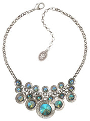 necklace Rivoli Concave blue/lila antique silver