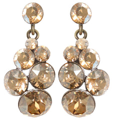earring stud dangling Petit Glamour golden shadow antique silver