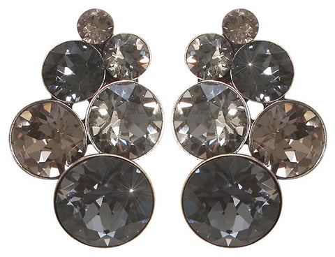 earring stud Petit Glamour grey antique silver