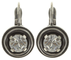 earring eurowire Cages white antique silver SS 29