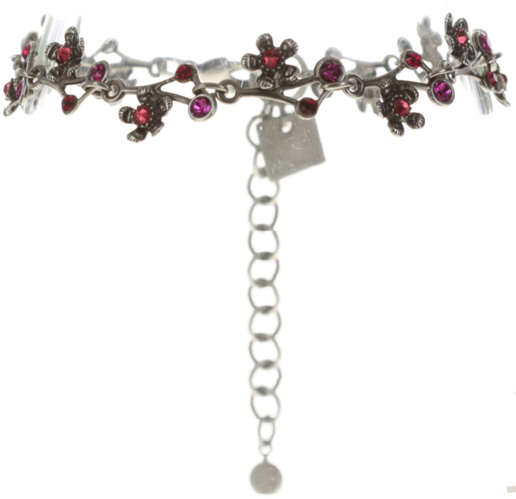 bracelet Eternal Glory red antique silver