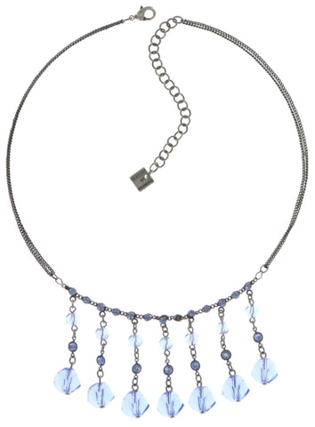 necklace Pool-Side Story dark blue antique silver