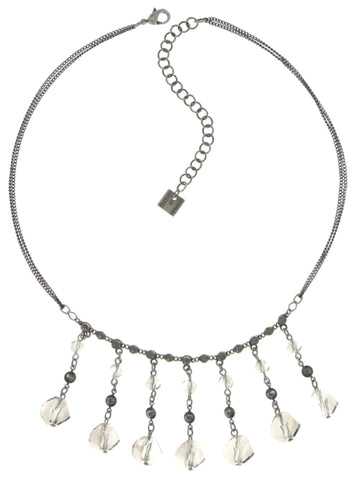 necklace Pool-Side Story grey antique silver