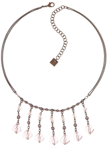 necklace Pool-Side Story pink antique copper