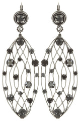 earring eurowire dangling Cages black antique silver