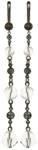 earring dangling Pool-Side Story white antique brass