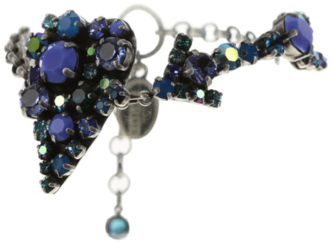 bracelet You Missed It blue antique silver