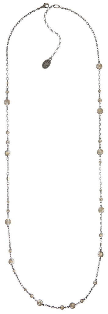 necklace (long) Waterfalls beige antique silver