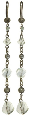 earring dangling Pool-Side Story green antique brass
