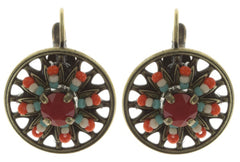 earring eurowire Dream Catcher strong multi antique brass extra small