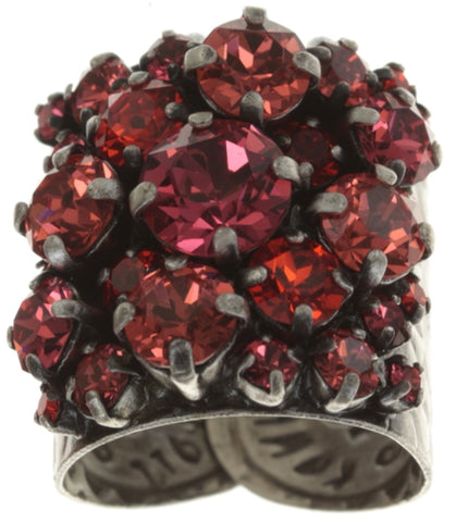 ring Ballroom coralline antique silver