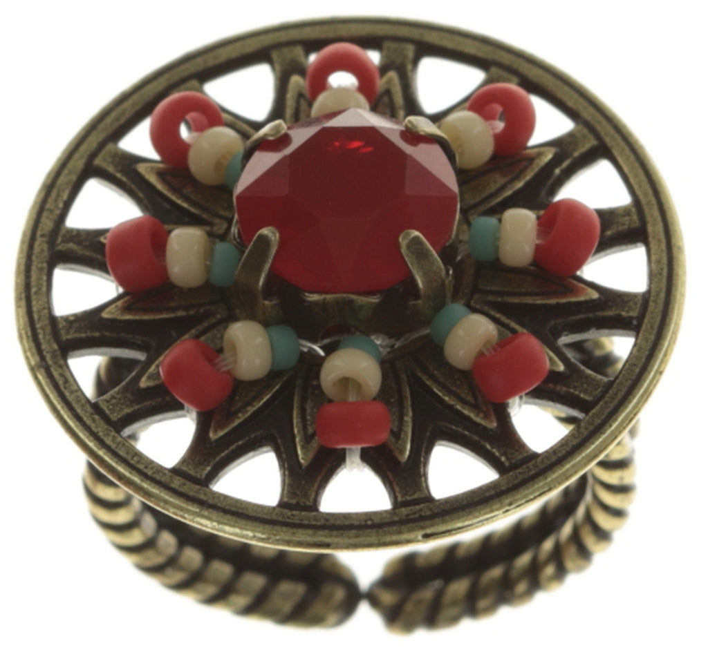 ring Dream Catcher strong multi antique brass small
