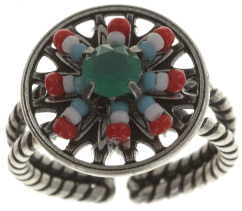 ring Dream Catcher multi antique silver smallest