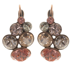 earring eurowire Petit Glamour beige/pink antique copper
