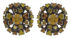 earring stud Ballroom yellow antique silver