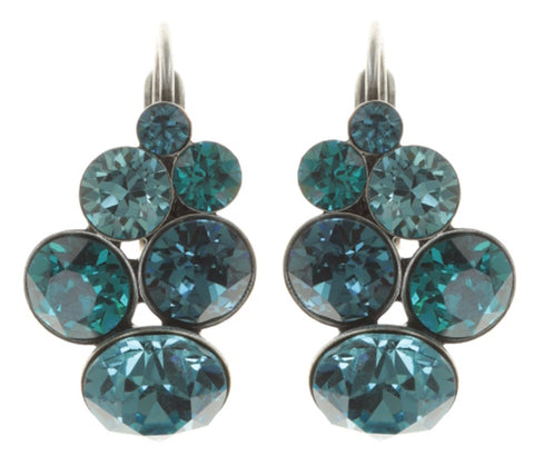 earring eurowire Petit Glamour blue antique silver