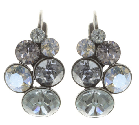 earring eurowire Petit Glamour light pastel multi antique silver