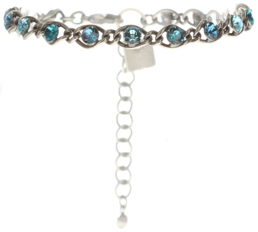 bracelet Magic Fireball blue antique silver Classic Size (21mm Ø)