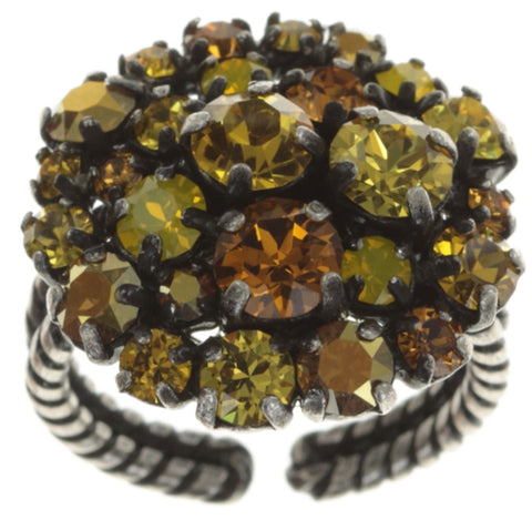 ring Ballroom yellow antique silver