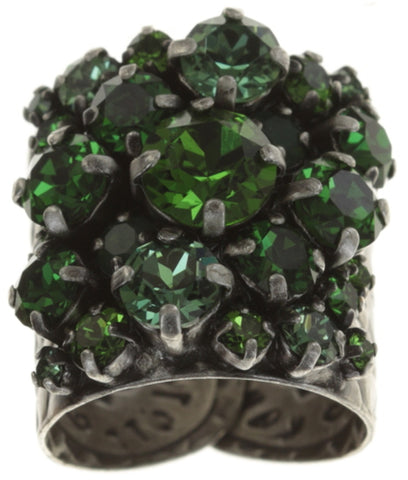 ring Ballroom dark green antique silver