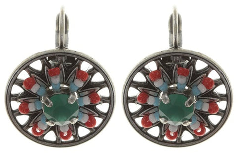 earring eurowire Dream Catcher multi antique silver extra small