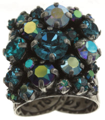 ring Ballroom blue/green antique silver