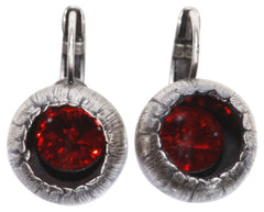 earring eurowire Cocoon red antique silver