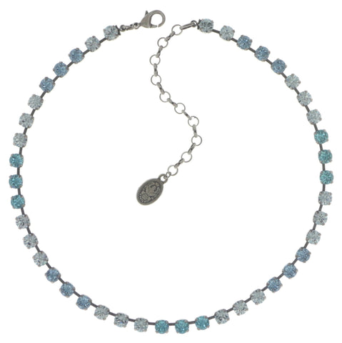 necklace Colour Snake light blue antique silver