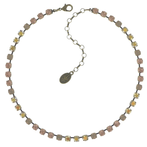 necklace Colour Snake beige/brown antique brass