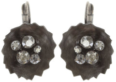 earring eurowire Samurai Bloom brown antique silver no. 4