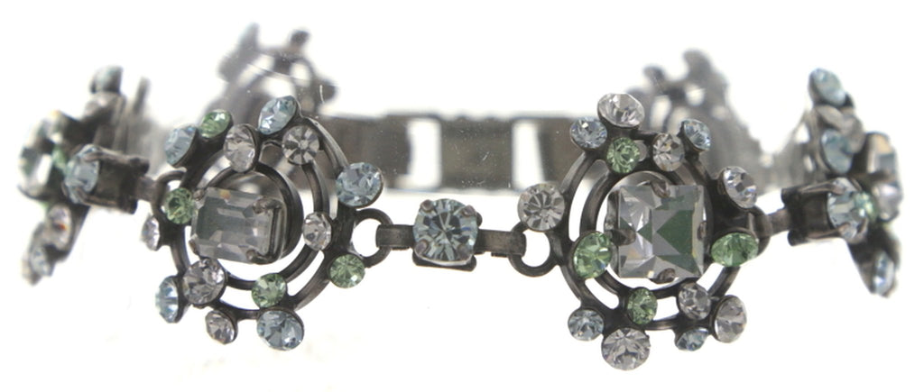 bracelet Hera light green/white antique silver