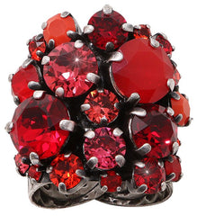 ring Ballroom Classic Glam red antique silver