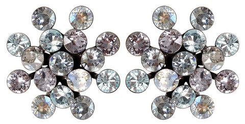 earring stud Magic Fireball light pastel multi antique silver