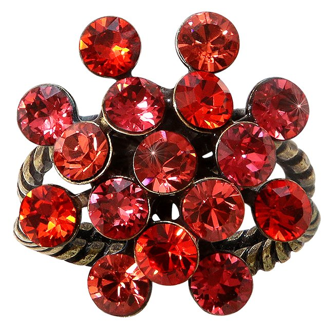 ring Magic Fireball coralline antique brass