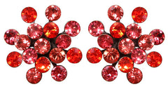 earring stud Magic Fireball coralline antique brass