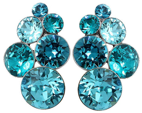 earring stud Petit Glamour blue antique silver