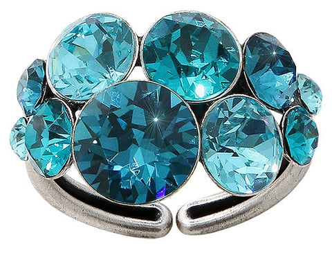 ring Petit Glamour blue antique silver