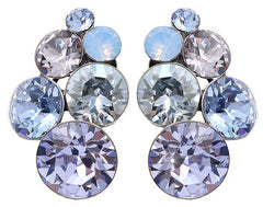 earring stud Petit Glamour blue/lila antique silver