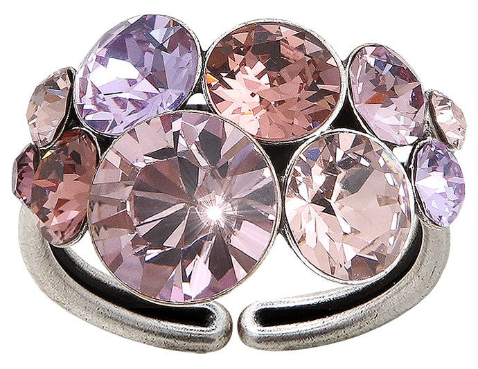 ring Petit Glamour pink/lila antique silver