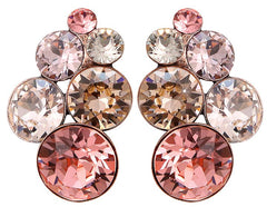 earring stud Petit Glamour beige/pink antique copper