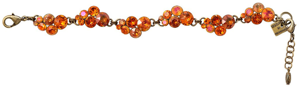 bracelet Petit Glamour orange antique brass