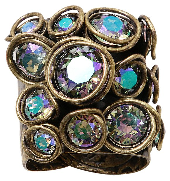 ring Sparkle Twist lila antique brass