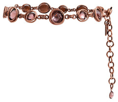 bracelet Sparkle Twist pink antique copper