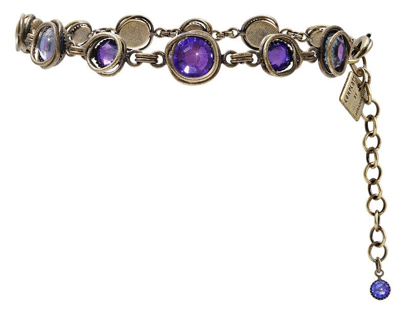 bracelet Sparkle Twist blue/lila antique brass