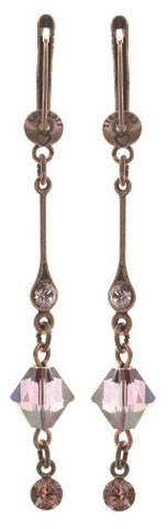 earring dangling Nostalgia beige antique copper