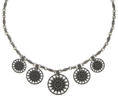 necklace Rosone white antique silver size M,S,XS