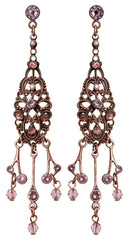 earring stud dangling Nostalgia beige antique copper